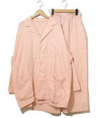 ROBE DE CHAMBRE COMME DES GARCONS(ローブドシャンブルコムデギャルソン)の古着「オーバーサイズパジャマ」|ピンク