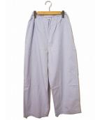 ROBE DE CHAMBRE COMME DES GARCONS(ローブドシャンブルコムデギャルソン)の古着「[OLD]イージーワイドパンツ」|ブルー