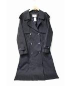 MNC APPAREL(エムエヌシーアパレル)の古着「オーバーサイズトレンチコート」|ネイビー