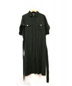 SONIA RYKIEL(ソニアリキエル)の古着「リネン混シャツワンピース」|ブラック