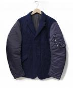 PRINGLE1815(プリングルエイティーンフィフティーン)の古着「中綿キルトMA-1ジャケット」|ネイビー