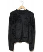 Maison Margiela(メゾンマルジェラ)の古着「切替ニット」|ブラック