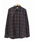 DRIES VAN NOTEN(ドリスヴァンノッテン)の古着「チェックシャツ」 レッド