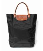 LONGCHAMP(ロンシャン)の古着「折り畳みトートバッグ」|ブラック