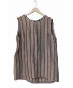 45R(フォーティファイブアール)の古着「シルク混リネンブラウス」|ベージュ