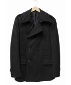 DOLCE & GABBANA(ドルチェアンドガッバーナ)の古着「ウールカシミヤメルトンダブルコート」|ブラック