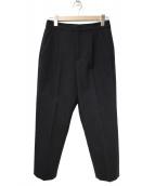 LE CIEL BLEU(ルシェルブルー)の古着「クロップドルーズパンツ」|ブラック