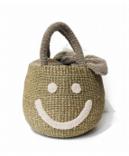 a-jolie(アジョリー)の古着「スマイルニコちゃんボアカゴバッグ」|グレー