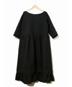 tricot COMME des GARCONS(トリコ コム デ ギャルソン)の古着「ビッグデザインウールワンピース」|ブラック