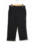 tricot COMME des GARCONS(トリコ コムデギャルソン)の古着「[OLD]90sロールアップウールパンツ」 ブラック