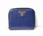 PRADA(プラダ)の古着「サフィアーノジッピーコインケース」|ネイビー