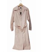 NINE(ナイン)の古着「ベルテッドコート」 ピンク