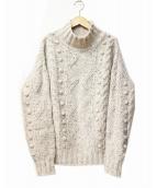 ETRE TOKYO(エトレトウキョウ)の古着「ネップケーブルプルオーバー」|アイボリー