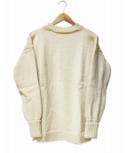 GUERNSEY WOOLLENS(ガンジーウーレンズ)の古着「ウールセーター」|ホワイト