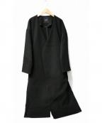 DRWCYS(ドロシーズ)の古着「ノーカラーコート」|ブラック