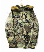 ALPHA INDUSTRIES(アルファ インダストリーズ)の古着「N-3B フライトジャケット コート」|オリーブ