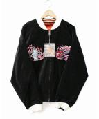 TED COMPANY(テッドカンパニー)の古着「リバーシブルスカジャン」|ブラック