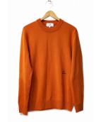 ck Calvin Klein(シーケーカルバンクライン)の古着「リファインメリノクルイーネックニット」|オレンジ