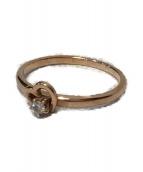 ()の古着「1粒ダイヤハートリング」|ピンク×ゴールド