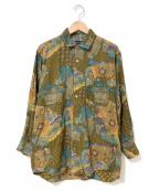 Christian Dior Sports(クリスチャンディオールスポーツ)の古着「[OLD]アートプリントシャツ」|ブラウン