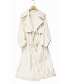 STUNNING LURE(スタニングルアー)の古着「ワッシャートレンチコート」|アイボリー