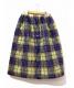 tricot COMME des GARCONS (トリコ コムデギャルソン) プレイドキルティングスカート イエロー サイズ:表記なし 19AW・AD2019:10800円