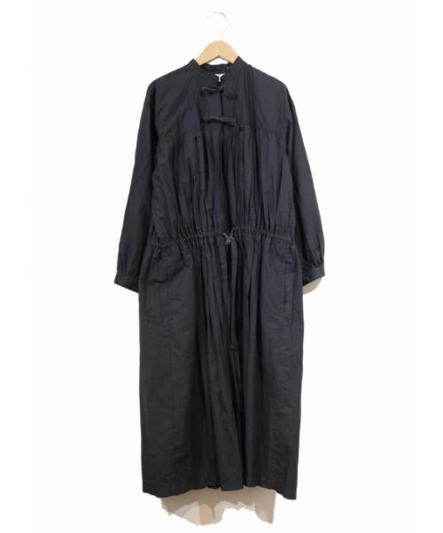 tricot COMME des GARCONS(トリコ コムデギャルソン)tricot COMME des GARCONS (トリコ コムデギャルソン) 製品染めギャザーデザインワンピース ネイビー サイズ:M AD2018の古着・服飾アイテム