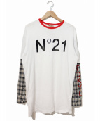 N°21 NUMERO VENTUNO(ヌメロヴェントゥーノ)の古着「レイヤードカットソー」|ホワイト
