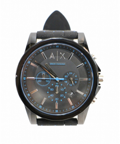 ARMANI EXCHANGE(アルマーニエクスチェンジ)ARMANI EXCHANGE (アルマーニエクスチェンジ) 腕時計 ブラック AX1342 クォーツ 動作確認済み ラバーの古着・服飾アイテム