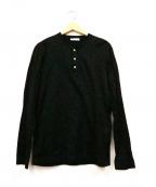 GRAN SASSO(グランサッソ)の古着「ハイゲージヘンリーネックカットソー」|ブラック