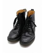 YS for men(ワイズフォーメン)の古着「サイドジップ8ホールブーツ」|ブラック