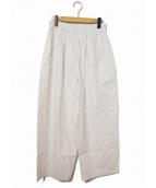 ROBE DE CHAMBRE COMME DES GARCONS(ローブドシャンブルコムデギャルソン)の古着「[OLD]ストライプパジャマパンツ」|ホワイト