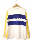 COMME des GARCONS SHIRT(コムデギャルソンシャツ)の古着「切替カットソー」 ホワイト