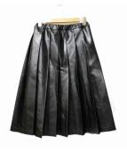 tricot COMME des GARCONS(トリコ コムデギャルソン)の古着「フェイクレザープリーツスカート」 ブラック