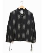 FACTOTUM(ファクトタム)の古着「開襟シャツ」 ブラック