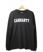 CARHARTT WIP(カーハート)の古着「L/S COLLEGE T-SHIRT」 ブラック