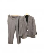 DURBAN(ダーバン)の古着「ウール・シルクセットアップスーツ」|グレー