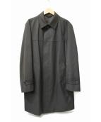 DURBAN(ダーバン)の古着「ウールシングルボンディングコート」|ブラック