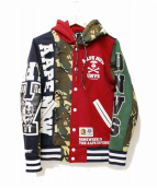 AAPE BY A BATHING APE(エーエイプ バイアベイシングエイプ)の古着「フーディスウェット」|グリーン