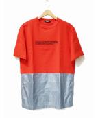 Calvin Klein(カルバンクライン)の古着「ロゴ切替カットソー」 レッド