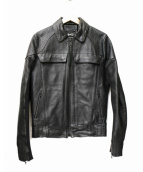 Denham(デンハム)の古着「レザージャケット」 ブラック