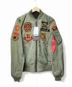 STRICT-G×ALPHA(ストリクトジー×アルファ)の古着「ジオン軍ライトMA-1ジャケット」|オリーブ