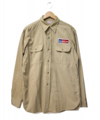BIG YANK(ビッグヤンク)の古着「[古着]ミリタリーシャツ」 ベージュ
