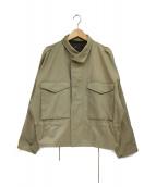 STUNNING LURE(スタニングルアー)の古着「リフレクターボックスミリタリージャケット」|ベージュ