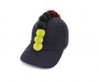 COMME des GARCONS SHIRT BOY(コムデギャルソンシャツ ボーイ)の古着「POMPOM CAP」 ネイビー