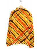 ISSEY MIYAKE(イッセイミヤケ)の古着「プリーツカットソー」|オレンジ