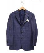 RING JACKET(リングジャケット)の古着「リネン混ジャケット」|ネイビー