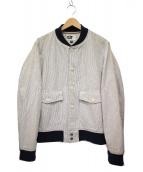 Engineered Garments(エンジニアードガーメン)の古着「ヒッコリーリブジャケット」|ホワイト