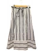 BLUE LABEL CRESTBRIDGE(ブルーレーベルクレストブリッジ)の古着「ストライプスカート」|ホワイト