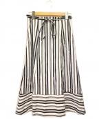 BLUE LABEL CRESTBRIDGE()の古着「ストライプスカート」|ホワイト